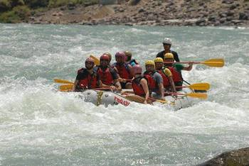 Stay per person in Camps with Buffet Meals and Rafting