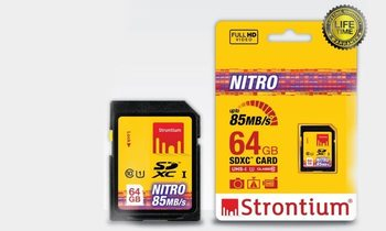 Strontium Nitro 64GB SDX Card for Rs.1350